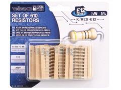 Nakup artikla K/RES-E12 - KOMPLET UPOROV 10E-1M 1/4W 5% (E12 LES