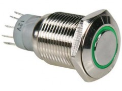 Nakup artikla STIKALO METAL ANTI VANDAL 230V/3A -12V LED ZELEN