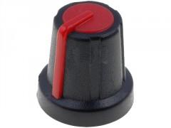 GUMB PLASTIČNI §16 / 6mm (črna-rdeča)
