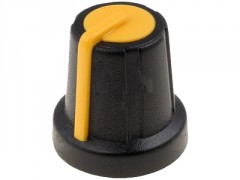 GUMB PLASTIČNI §16 / 6mm (črna-rumena)