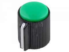 GUMB PLASTIČNI §13 / 6mm (črna-zelena)