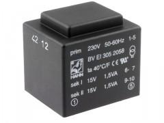 Nakup artikla TRANSFORMATOR 2x15V 3VA ZALIT (200mA)