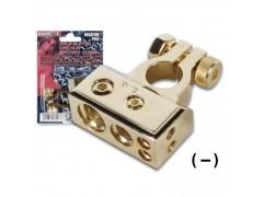 CHA005-NEG - GOLD-PLATED CAR HI-FI BATTERY CLAMP