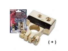 CHA005-POS - GOLD-PLATED CAR HI-FI BATTERY CLAMP